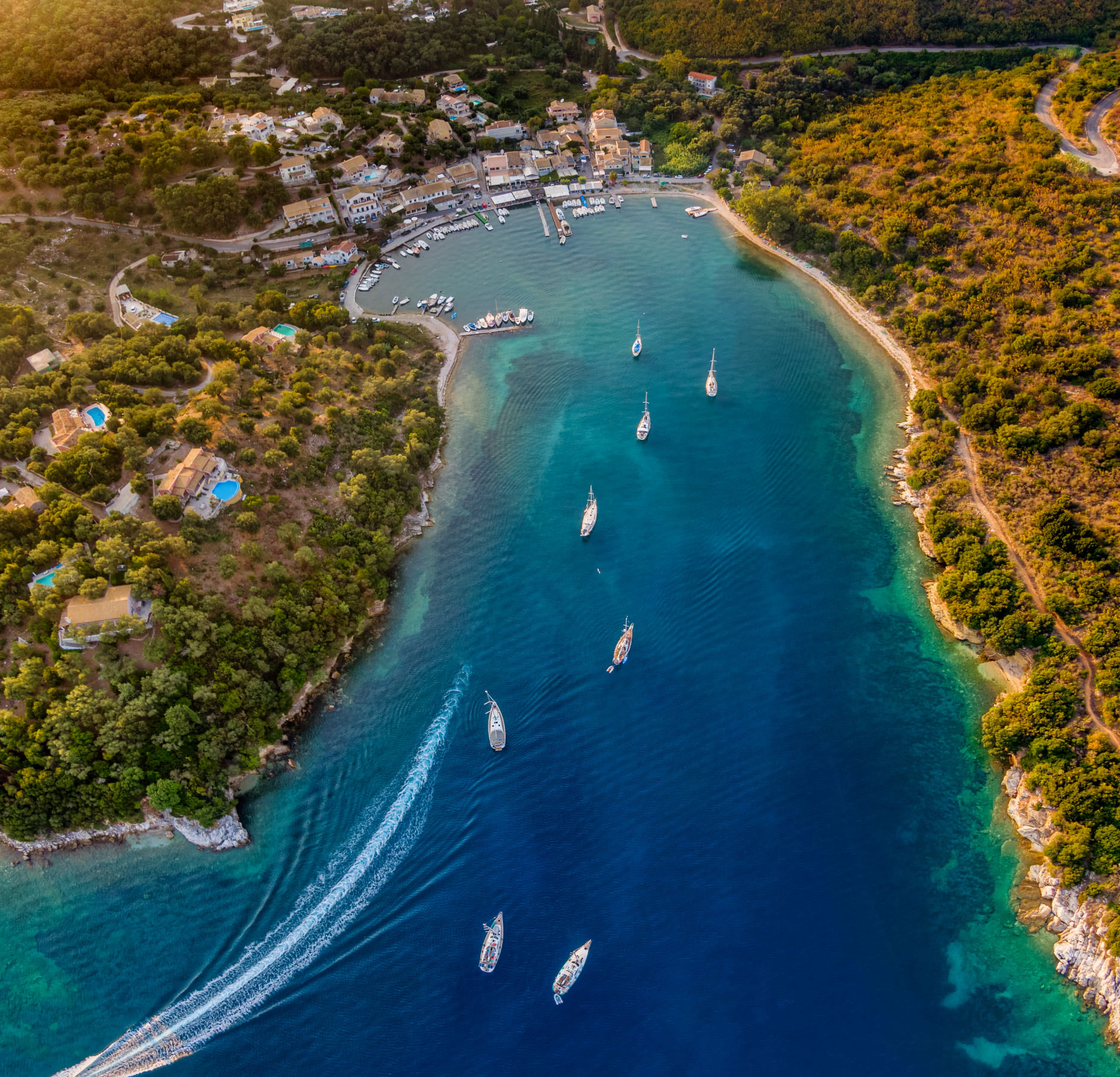 Aerial View of Agios Stefanos 2020