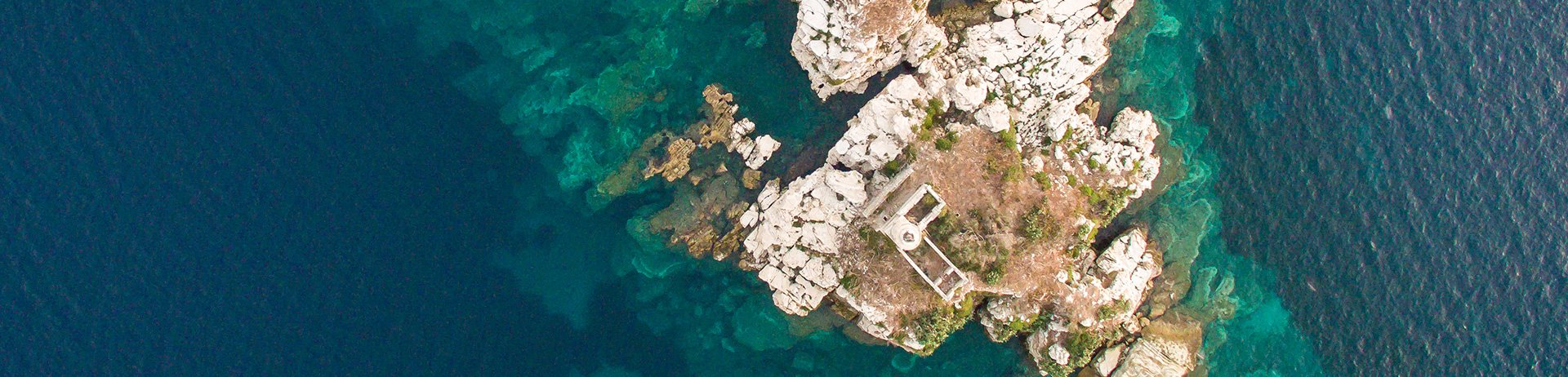 Aerial View of Kapareli Lighthouse