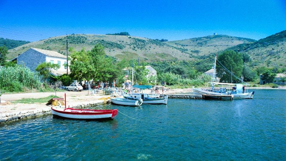 San Stefano North East harbour - In the old days - About San Stefano Boats Corfu Boat Hire