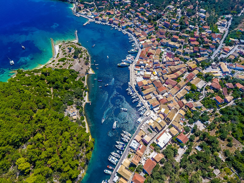 The beautiful port of Gaios at Paxos island
