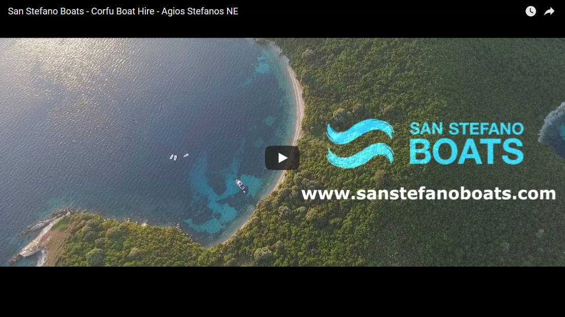 San Stefano Boats recent video on corfu boat hire