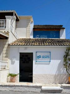 About San Stefano Boats - Corfu Boat Hire - Our Office on site